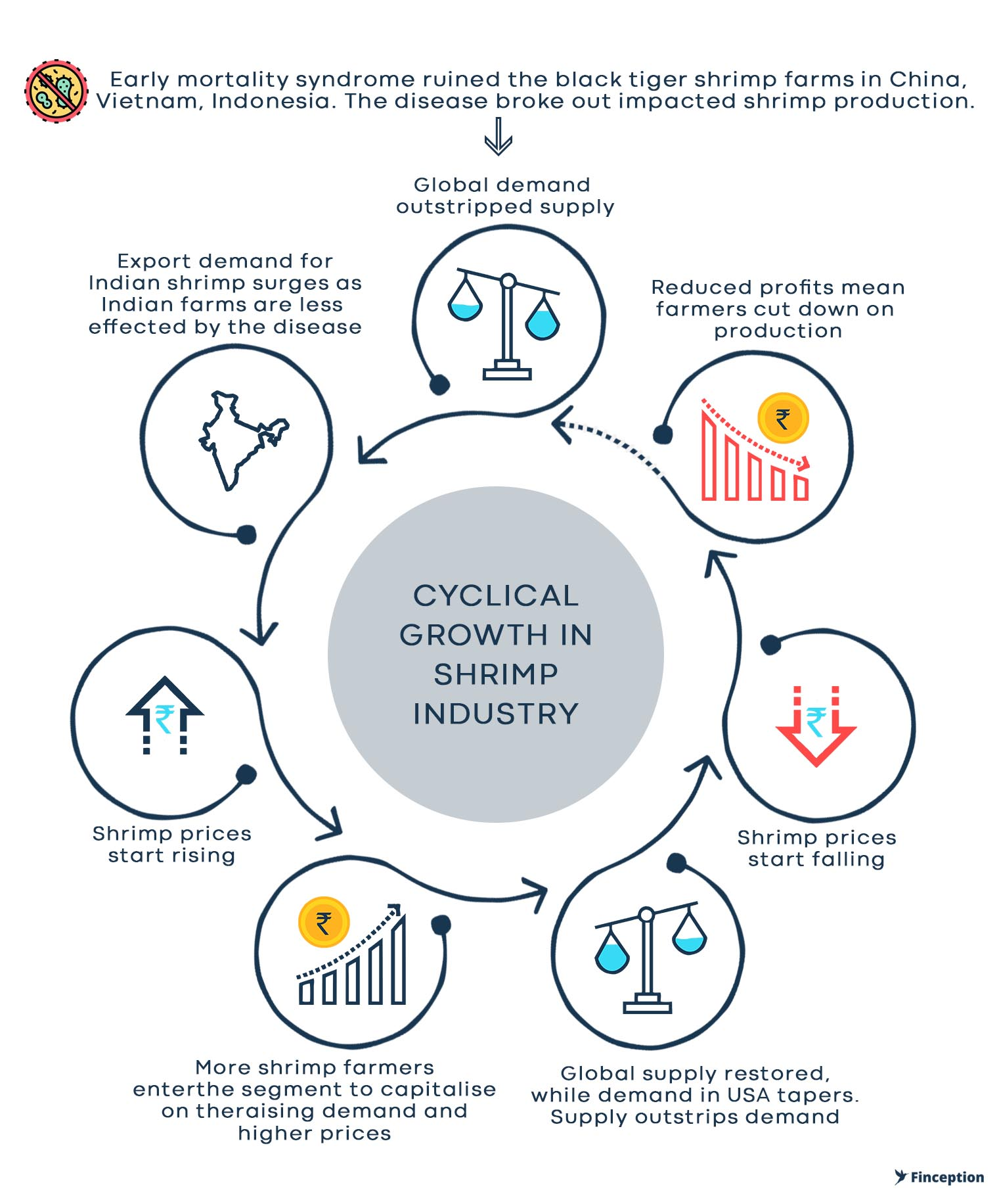 Cyclical growth in Shrimp industry